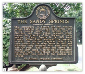 Picture of the a Sandy Springs Historical Marker